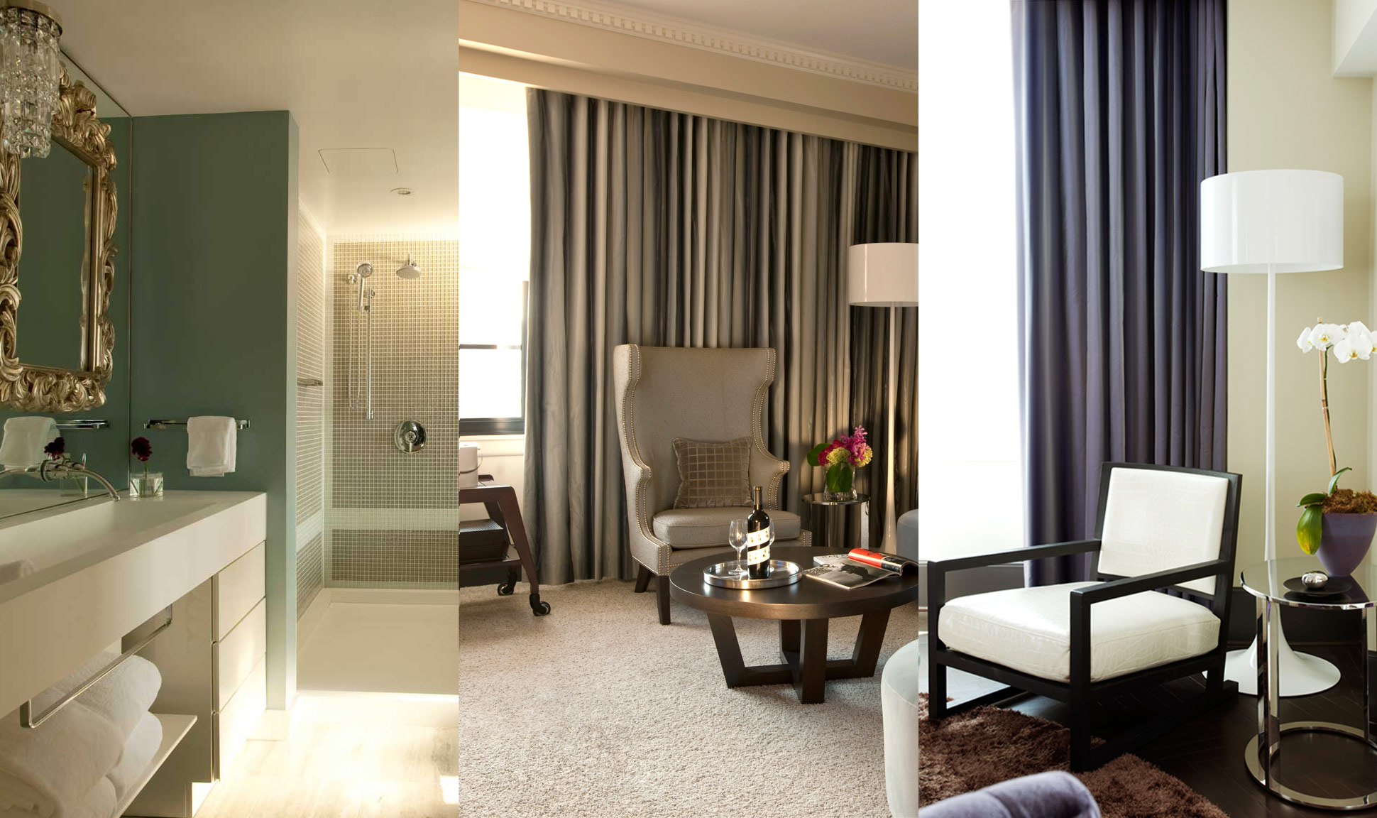 Visually the W Washington DC is a delicate balance of restraint and sensuality.